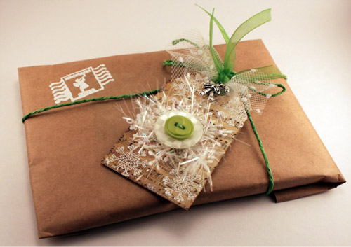 original gift packaging and postcards