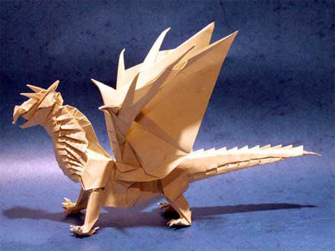 3d оригами дракон схема